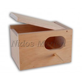 Nido de madera para Diamantes de Gould