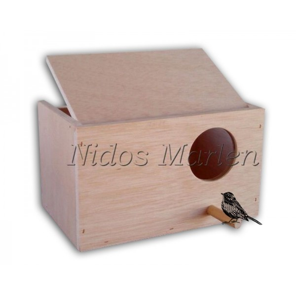 Nido de madera para Ninfas horizontal