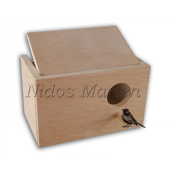 Nido de madera para Agapornis horizontal